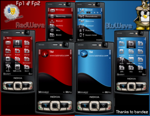 red blue wave e71 theme